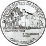 Thumb 1 dollar 1990 goda 100 let so dnya rozhdeniya eyzenhauera