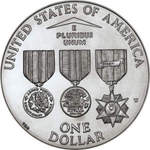 Thumb 1 dollar 1994 goda memorial veteranov vietnama