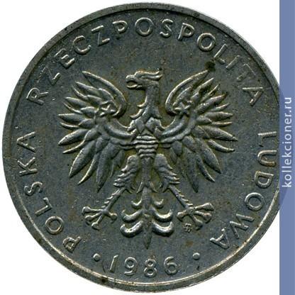 20 злотых 1986 г держава серебряные монеты